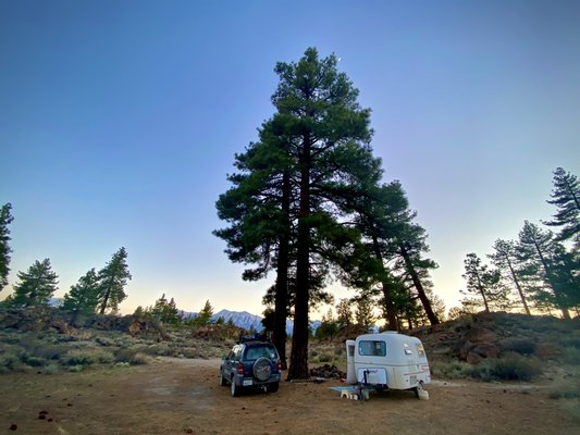 Owens gorge road dispersed camping