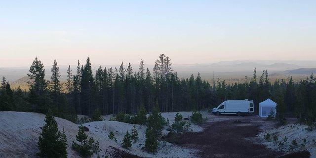 Pumice butte road dispersed campsite