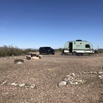 Painted rock petroglyph site campground