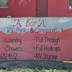 A bar a rv park storage