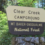Clear creek campground mt baker snoqualmie nf