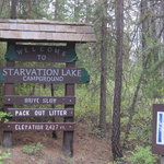 Starvation lake campground
