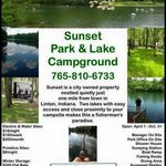 Sunset park lake campground