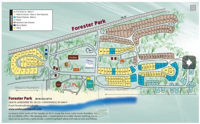 Forester park campground