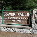 Lower falls campground tahquamenon falls state park