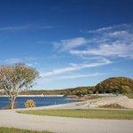 Dam site lake campground