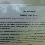 Wilson creek recreation area