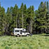 A campground in Bighorn National Forest