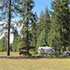 A campground in Coeur D'Alene National Forest